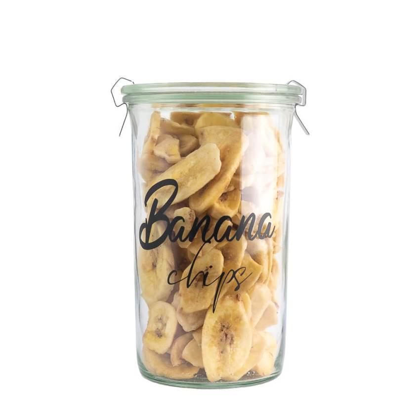 Refillable Banana Chips Jar