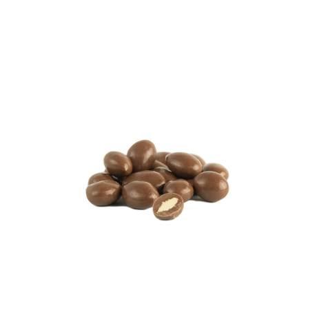 Amandelen bedekt met chocolade
