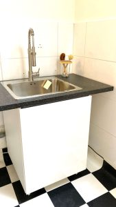 New sink and hot water boiler