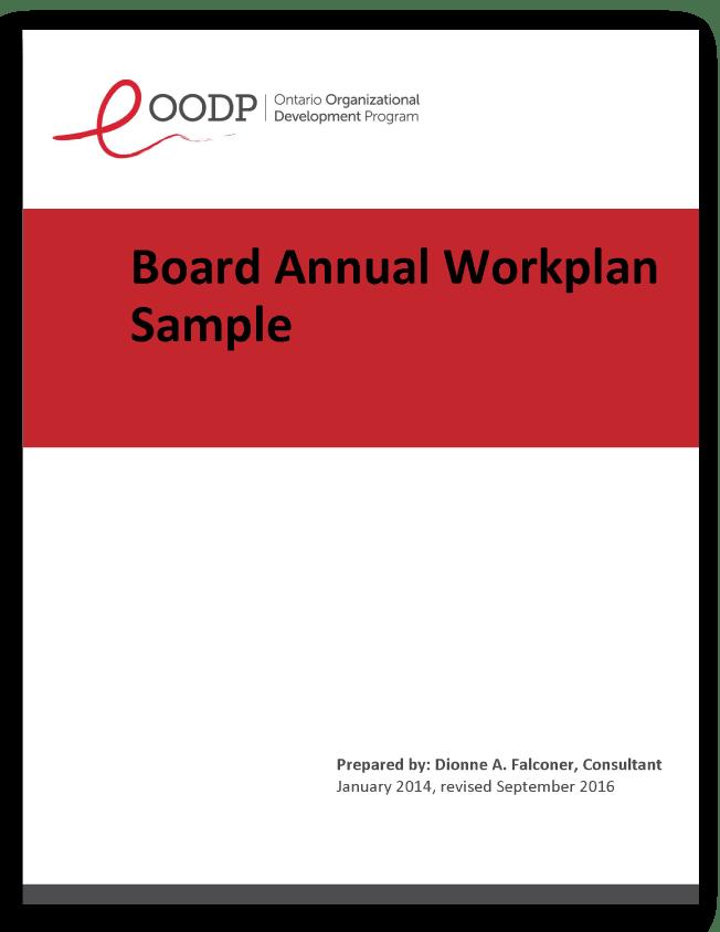 Board Annual Plan | The Ontario Organizational Development Program ...