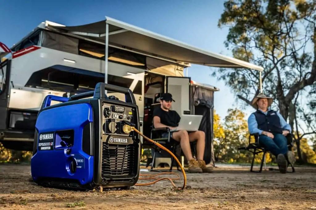 camping using a generator