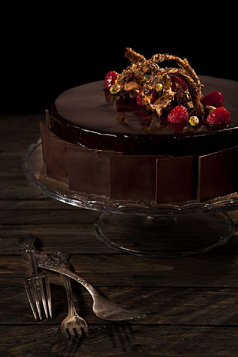 עוגת מוס שוקולד, פיסטוק ופטל