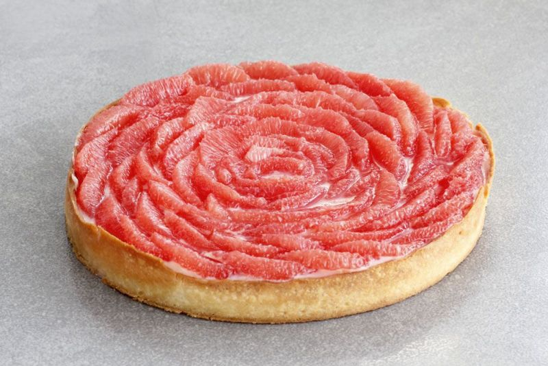 Red Grapefruit Tart