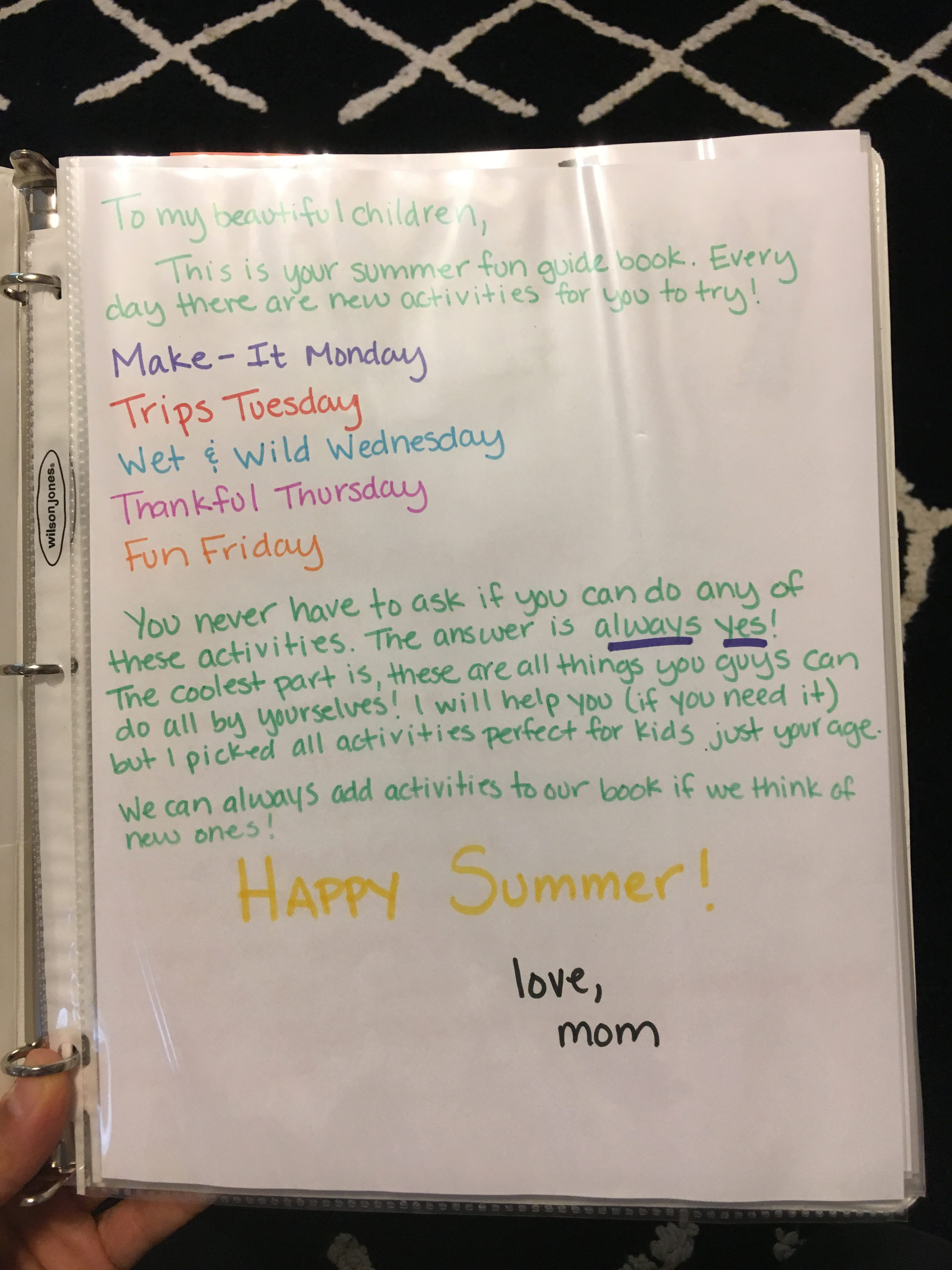 How to make a summer fun guide