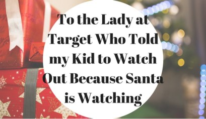 Christmas shopping with kids