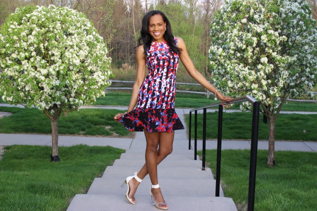 Style-Files-with- PrettyPrice-Peter-Pilotto-Target-Red- Floral-Drop-Waist-Dress-Forever-21-Clear-Platform- Sandals-8