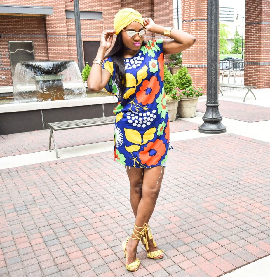 Style-Files-Target-Marimeko-collection -floral-tunic-justfab-tayrey-yellow-fringe-heels-sandals-yellow-turban-asos-denim-choker-oohlalablog-11