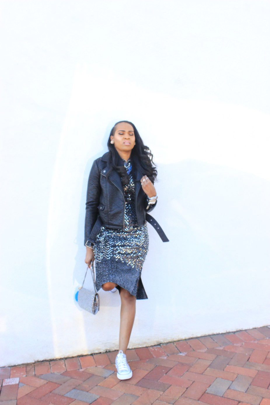 Style-Files-Thrifted-Silver-black-sequin-dress-forever-21-faux-leather-moto-jacket-converse-allstar-sequin-low-top-sneakers-oohlalablog-2