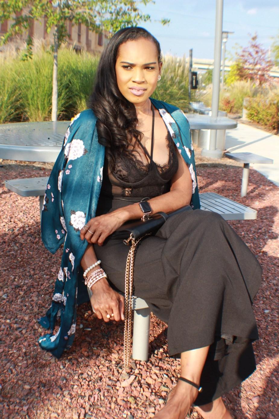 Style-files-Monteau-Green-floral-kimono-Boohoo-Wideleg-pants-zara-pvc-clear-black-pumps-forever21-lace-corset-bodysuit-ooohlalablog-14