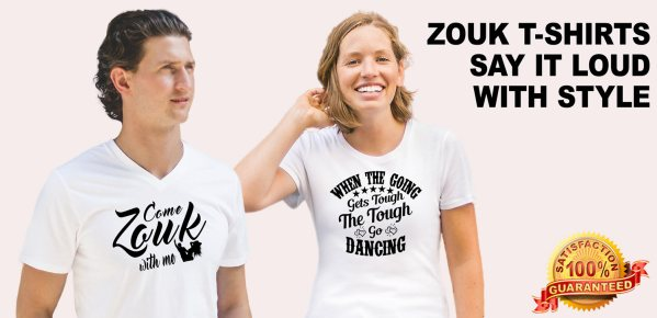 Zouk t-shirt, cheeky, fun and made for you!