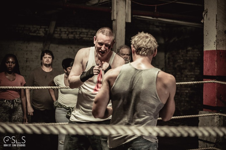 Actor Cody Roth in the ring with Brock Roberts