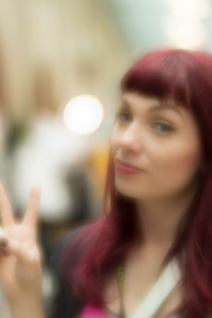 Image of female subject shot at Shutterfest with the lensbaby velvet 56