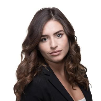 woman headshot white background