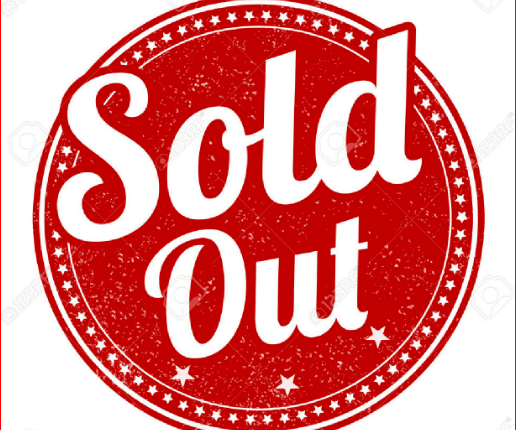 sold out circle red and white