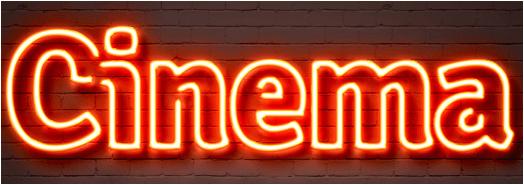 cinema in neon