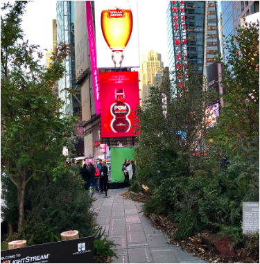 times square trees