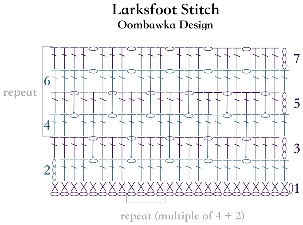 Larksfoot Stitch Afghan Square • Oombawka Design Crochet
