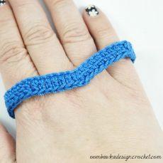 2 - Free Pattern Simply Easy Chevron Bracelet @OombawkaDesign