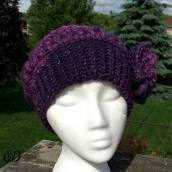 Front | Enchanted Infinity Slouch Hat | Free Pattern @OombawkaDesign