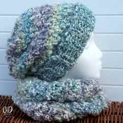 with scarf | Simply scrumptious Hat | Free Crochet Pattern oombawkadesigncrochet.com