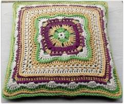 AG Handmades Test Square made into a Pillow