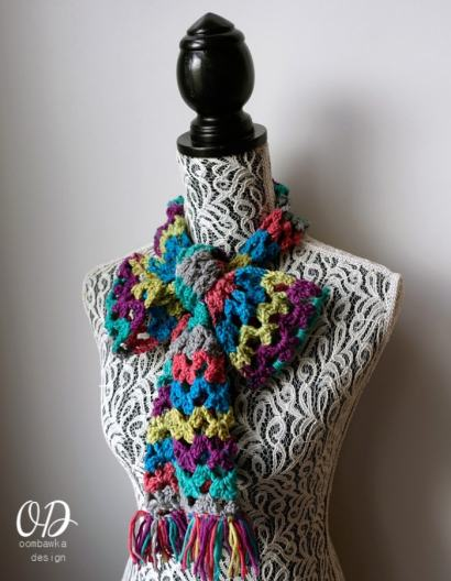 Rainbow of Butterflies Scarf of the Month Club Free Pattern for March