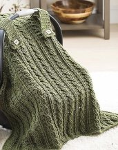 Cables - On The Go Baby Blankets - Leisure Arts - Book Review by Oombawka Design Crochet