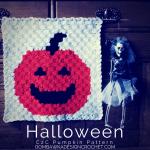 Decorate With A C2c Halloween Pumpkin Panel Oombawka Design Crochet