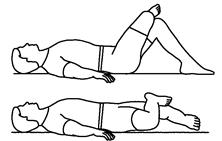Quadratus lumborum stretch supine