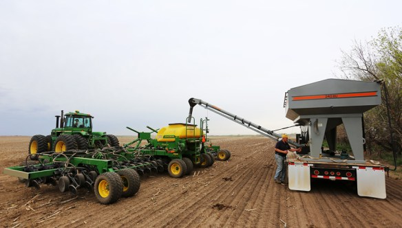 Drilling soybeans in May 2013