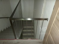 Architekt Pabianice OOO studio Architektura i Design Balustrada schodowa stal nierdzewna harfowa 3