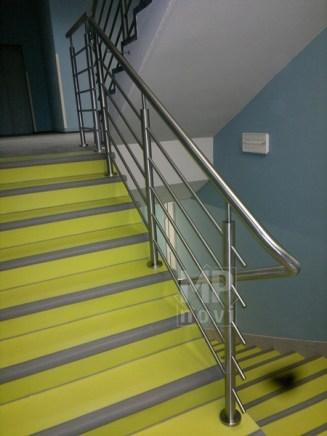 Architekt Pabianice OOO studio Architektura i Design Balustrada schodowa stal nierdzewna wypelnienie z pretow 1
