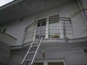 Architekt Pabianice OOO studio Architektura i Design stal nierdzewna balustrada balkonowa nietypowa na zamowienie 3