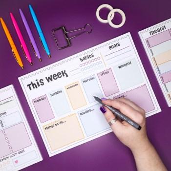 productivity pad weekly
