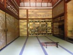 Silk screen paintings (inside former palace building - Goten)