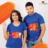 Chanda Chanda Nann Hendti / Ganda - Couple T-shirts - Pink Design
