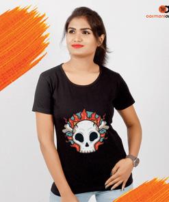 Flaming Skull Women's T-Shirt