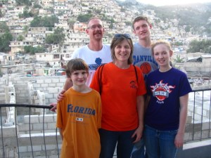Our family in Haiti. (Don't worry, the ride doesn't go this far south.)