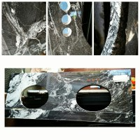 Reclaimed Granite Double Sink Vanity Top | Out of the Box