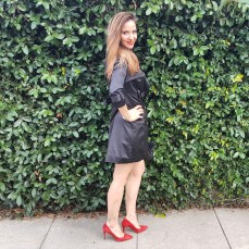 bebe-jacket-banana-republic-red-heels-and-clutch