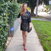 bebe-lace-dress-and-jacket-banana-republic-red-pumps-and-clutch