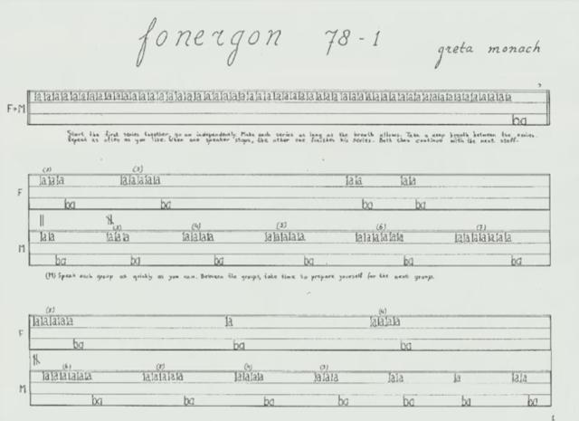 Luister naar een uitvoering van fonergon 78-1 door Greta Monach en Martin Boot op Youtube