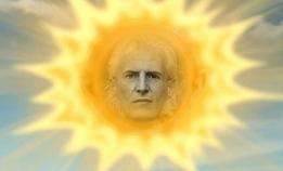 gezicht van Kees Ouwens in de zon