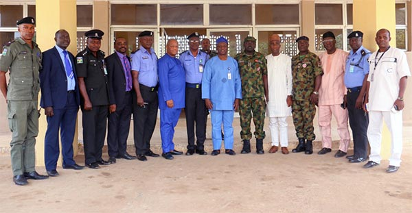 University functionaries and the Security Chiefs