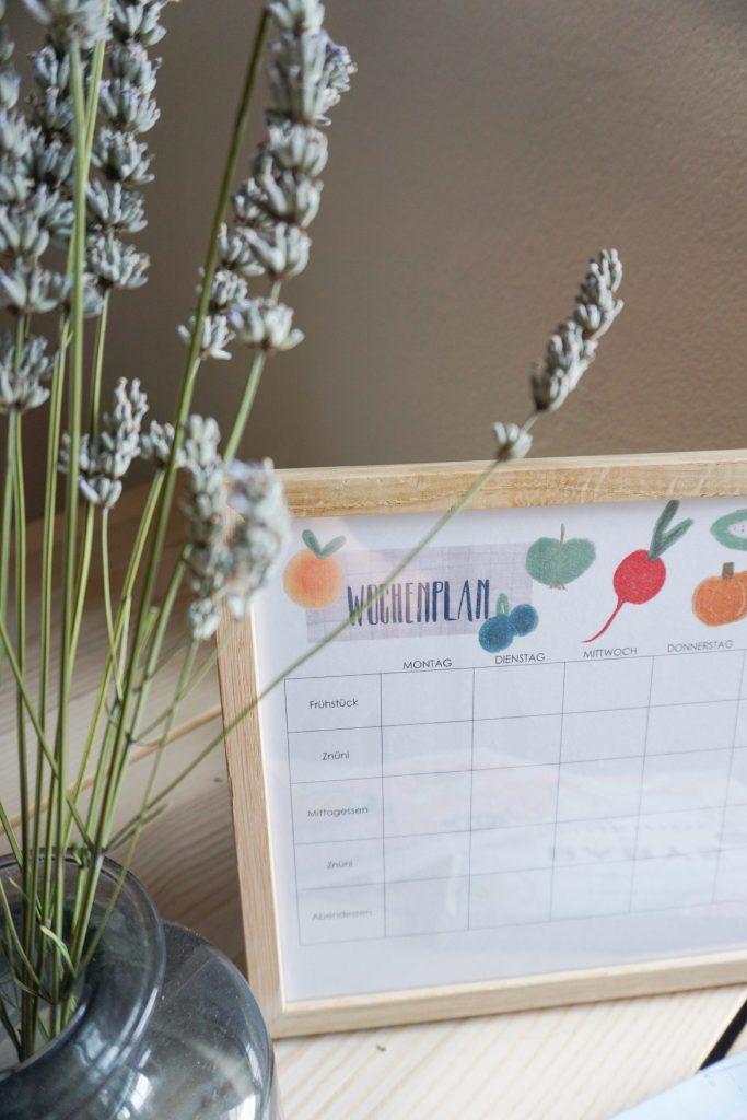 Wochenplan für Familien (inkl. Essensplan zum ausdrucken)