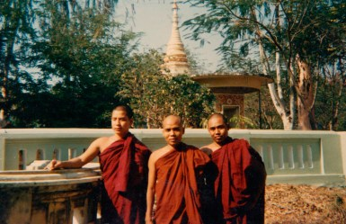 Sayadaw (centre) at a young age in Monywa.