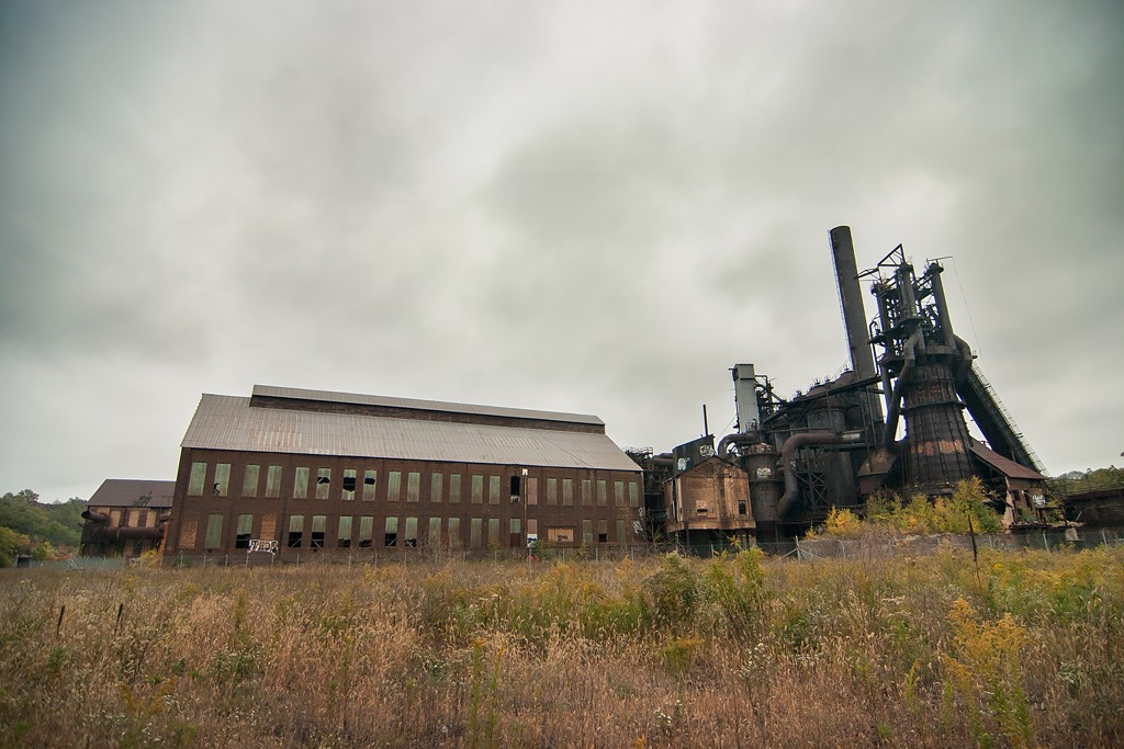 Carrie Blast Furnace: an Abandoned Blast Furnace in Rankin, PA