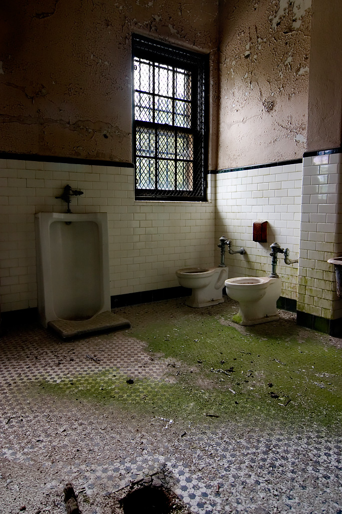 Secure Bathroom  Photo of the Abandoned Norwich State