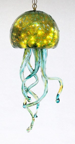 Silver Green Jelly Fish Chandelier
