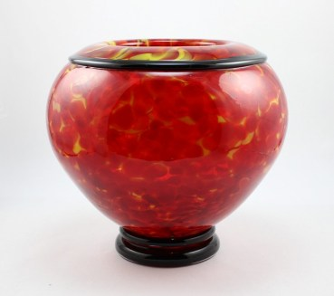 Red Hot Rolled Lip Bowl